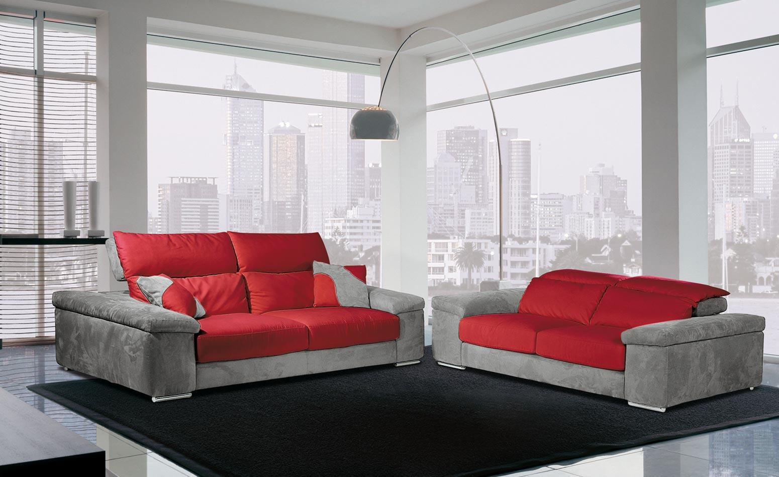 Divano Rosso E Grigio parma divani, produzione e vendita, divani, poltreone